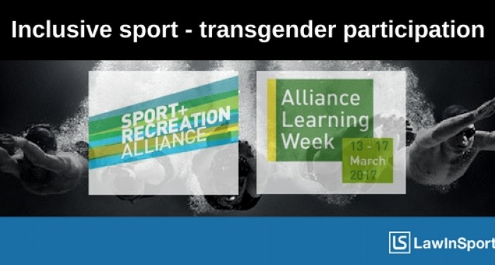 Podcast with the Sport & Recreation Alliance on transgender participation