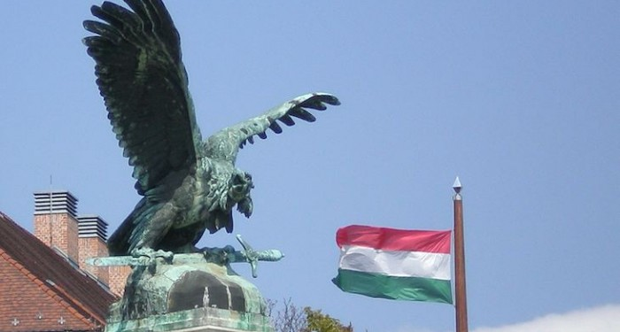 Turul_and_Hungarian_flag