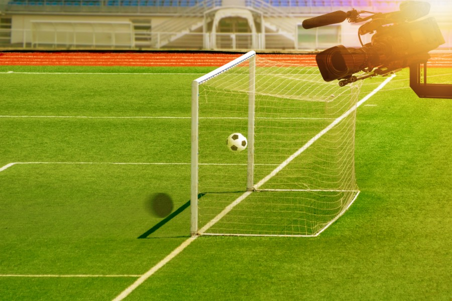 Football Pitch and TV Camera