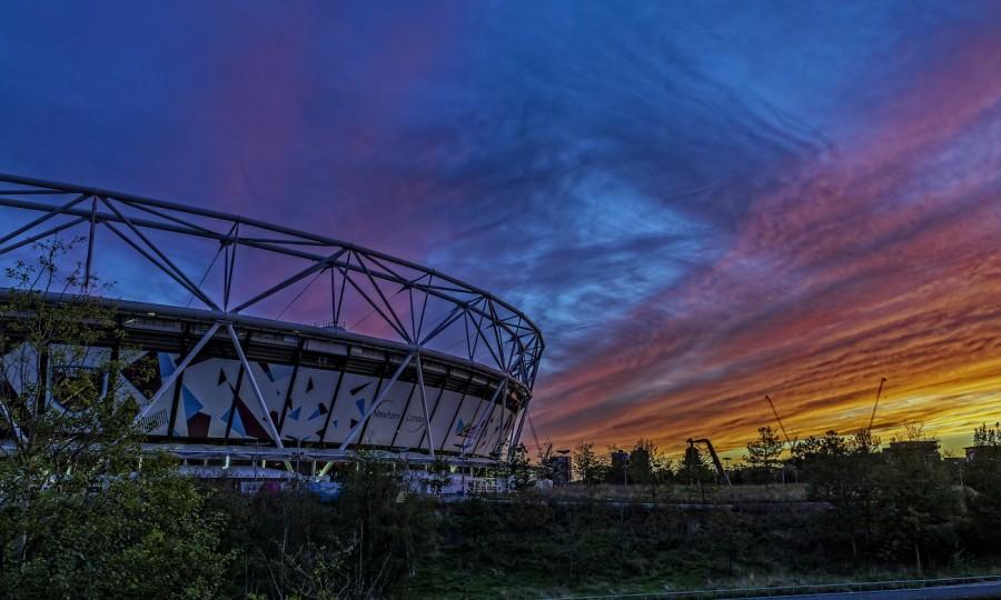 Westham Stadium in sunset