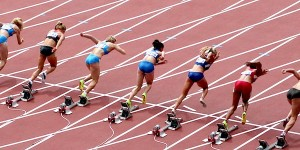 Women Leave the Starting Blocks