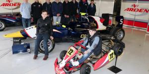 The Young Racing Drivers with MW Arden Robert Visoiu's GP3 car and Owen Marlow's Cadet Kart