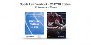 Sports Law Yearbook 2015/16 and 2016/17 front covers