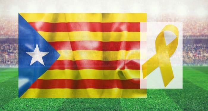 Pep Guardiola with yellow ribbon