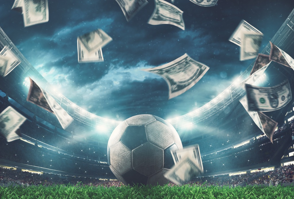 Title images - Football with bank notes raining down