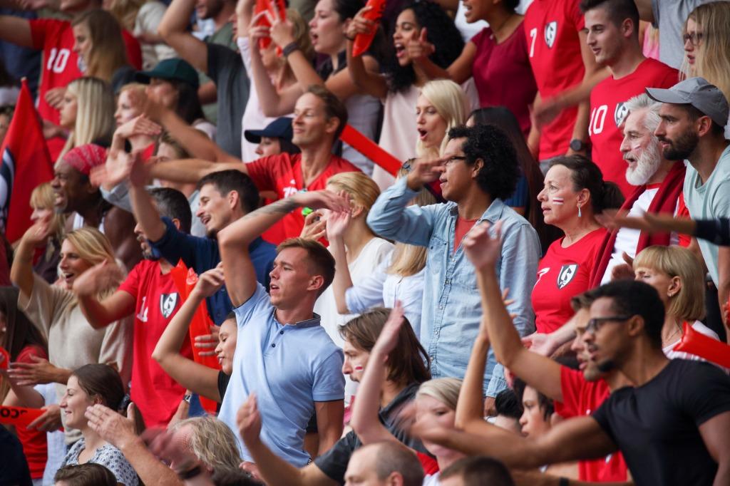 England football fans cheering