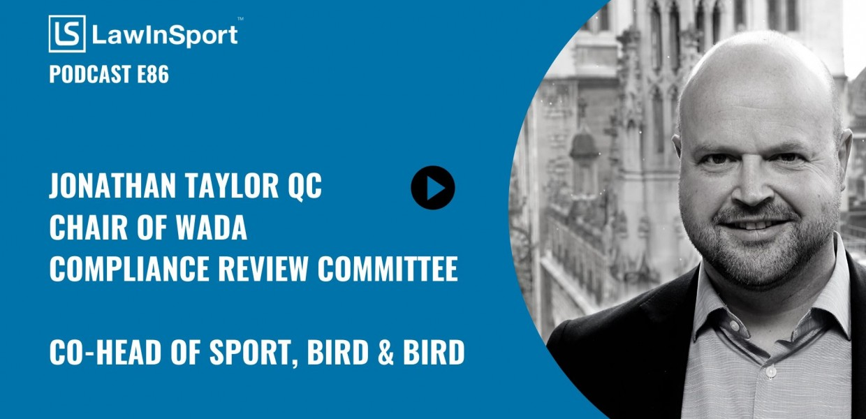 Title image of Jonathan Taylor QC podcast on WADA CRC Recommendations