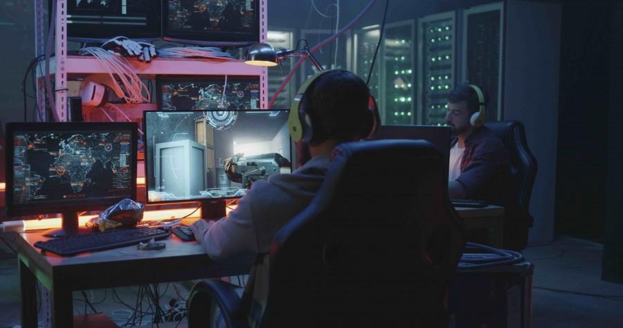 Man Playing CS-GO