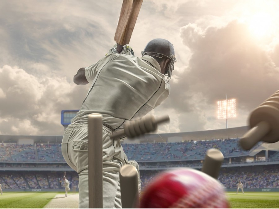 Batsman getting bowled