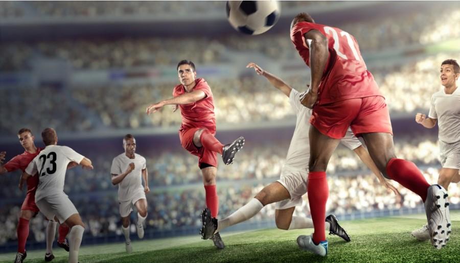 Title image - Footballer kicking the ball