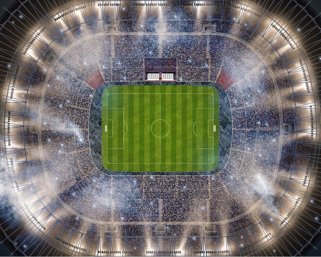 Aerial View of Football Stadium