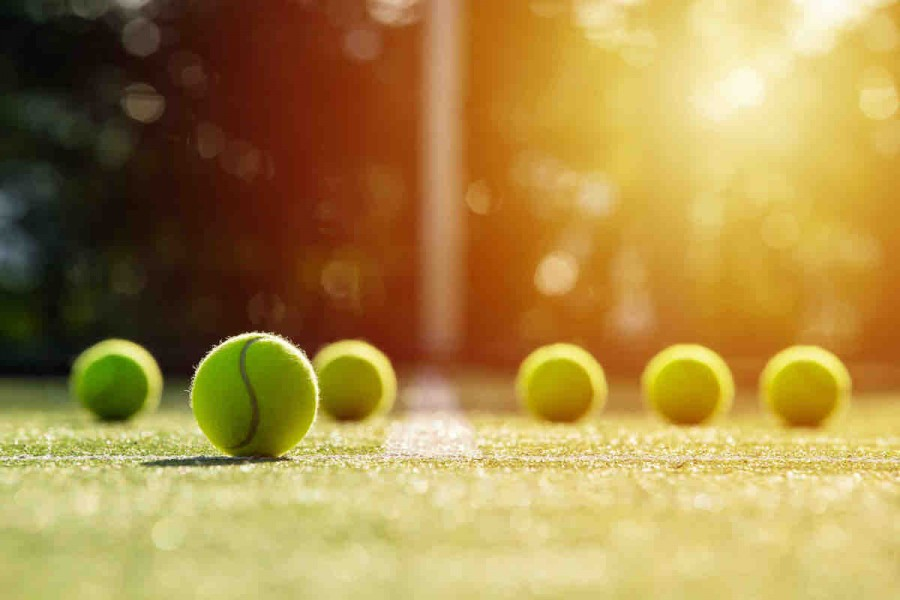 Tennis Ball Grass