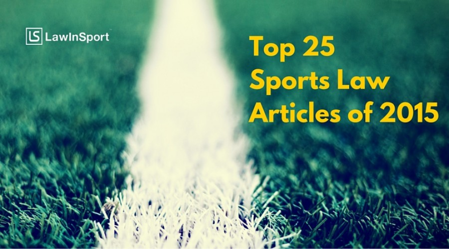 Title image for top 25 sports law articles of 2015